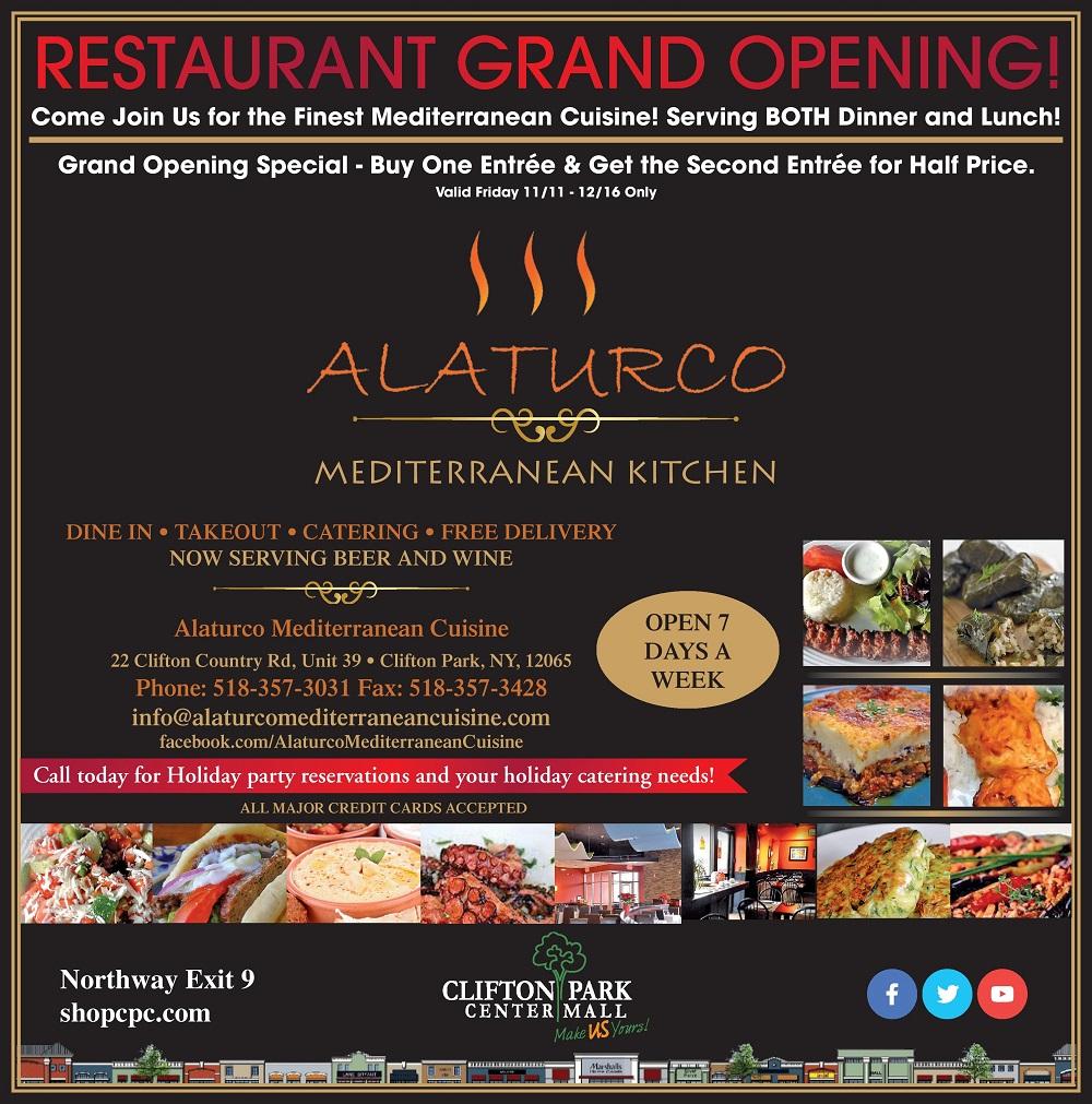 alaturco mediterranean restaurant grand opening nov 11 2016 dec 16 2016