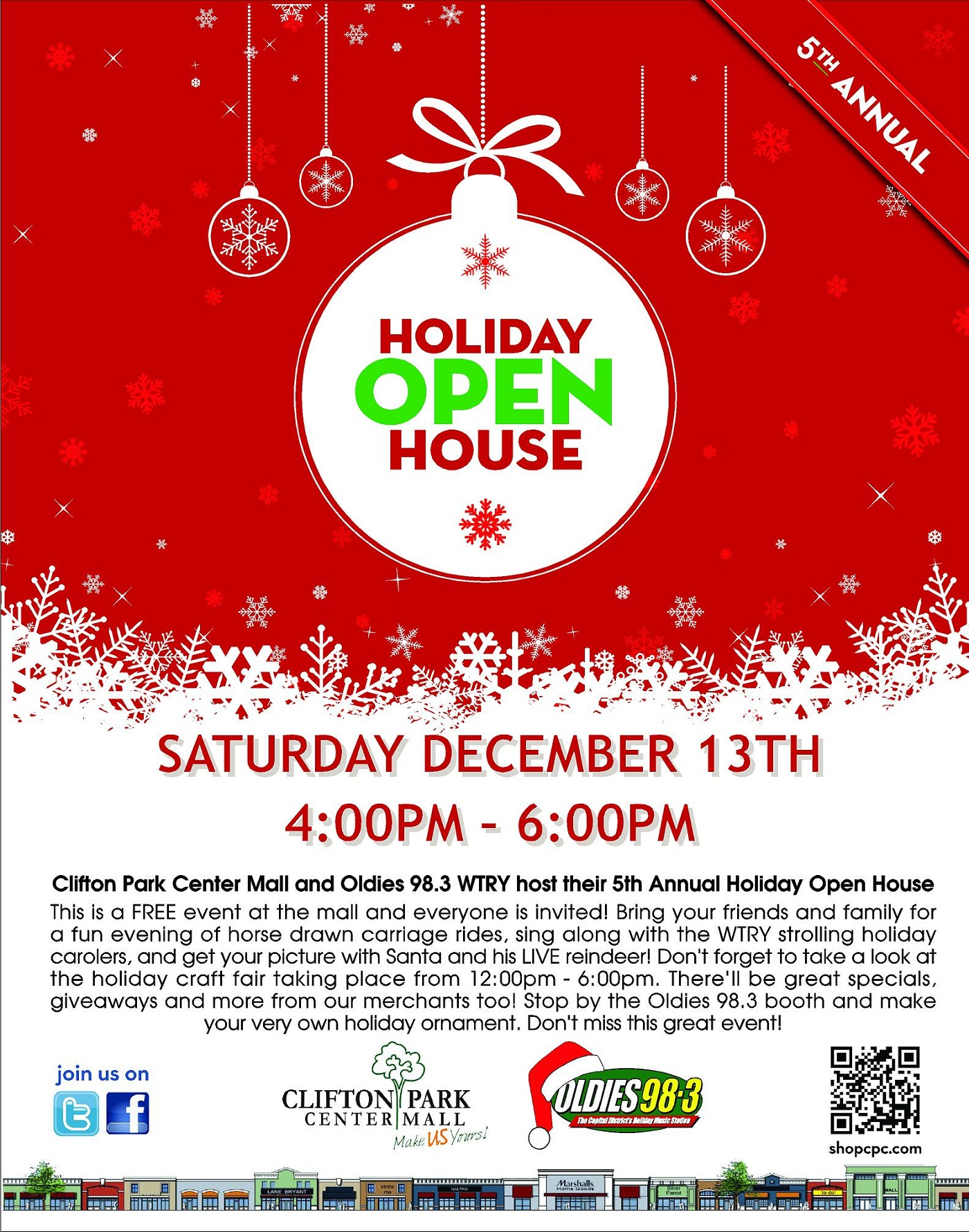 Clifton Park Center 5th Annual Holiday Open House Join Us