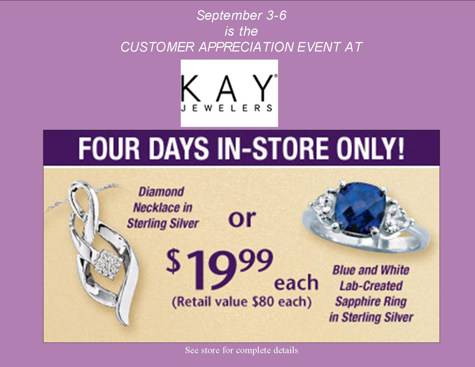 Customer Appreciation Event at Kay Jewelers