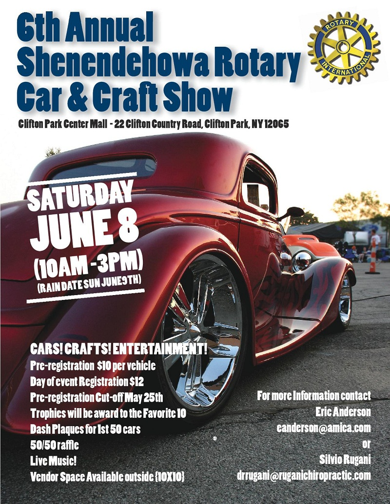 Clifton Park Center Shenendehowa Rotary Car Craft Show