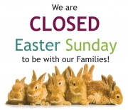 Mall will be closed, Easter Sunday, April 4th