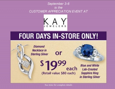 Clifton Park Center | Customer Appreciation Event at Kay Jewelers
