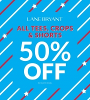 Lane Bryant's 50% OFF Tees, Crops & Shorts